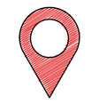 pin pointer isolated icon vector image vector image