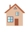 private house with two floors in brown color on vector image vector image