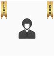 rastafarian man flat icon vector image