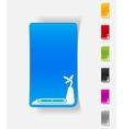 realistic design element treadmill vector image vector image