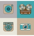 Retro flat arts icon vector image vector image