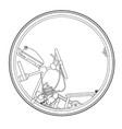 retro monowheel vector image