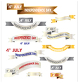 Ribbon American Independence Day vector image vector image