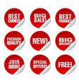 round advertising stickers vector image vector image