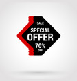 sale sticker with hand drawn elements in red and vector image