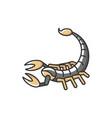 scorpio zodiac sign rgb color icon