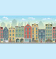 seamless cityscape background with old houses vector image