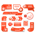Set of red progress version step icons eps 10 vector image vector image