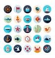 Set of vintage flat design modern nautical marine vector image vector image