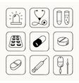 Simple medical icons set vector image vector image