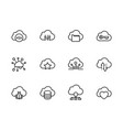 simple set cloud storage line icon vector image