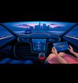 smart car interior vector image vector image