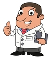 Smiling male doctor vector image