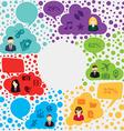 Social media forum infographic vector image vector image