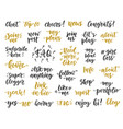 social media hand written trendy lettering vector image