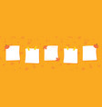 sticky notes stickers for autumn design vector image