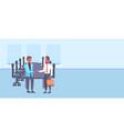 two businessmen shaking hands business men vector image