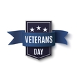 Veterans Day background template on white vector image vector image