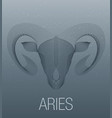 zodiac sign aries vector image vector image