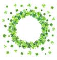 clover leaves frame vector image