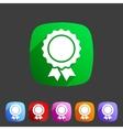 Award ribbon badge icon flat web sign symbol logo vector image
