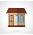 Store building flat color design icon vector image
