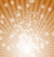 Abstract bokeh on orange background vector image vector image