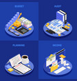 accounting isometric design concept vector image vector image