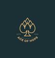 ace hops logo vector image