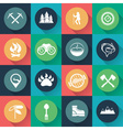 Adventure web icons set flat design vector image vector image