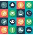 Adventure web icons set flat design vector image