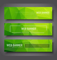 banner design with green abstract polygonal vector image vector image