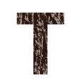 bark letter T vector image vector image