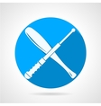 Batons flat icon vector image vector image