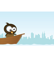 bird on a boat vector image vector image