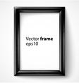 black wooden rectangular 3d photo frame vector image