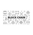 block chain cryptocurrency concept line vector image vector image