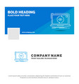 blue business logo template for app application vector image vector image