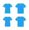 Blue short sleeve t-shirts templates vector image