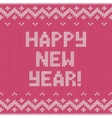 Card of Happy New Year 2015 with knitted texture vector image vector image
