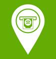 cash terminal pointer icon green vector image vector image