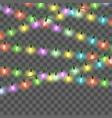 christmas bright lights set color xmas vector image vector image