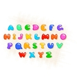 colorful alphabet vector image