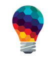 colorful bulb icons vector image vector image