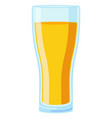 colorful cartoon yellow juice glass vector image