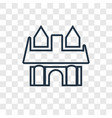 cottage concept linear icon isolated on vector image