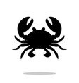 crab black silhouette aquatic animal vector image vector image