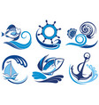 cute set of summer symbols vector image