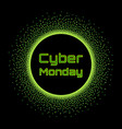 cyber monday sale banner concept design template vector image