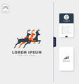 deer logo template free business card design vector image vector image